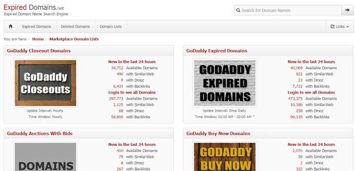 expired domain link juice money site