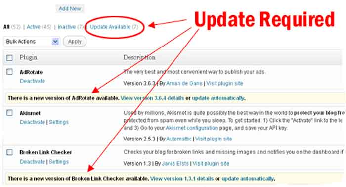 update wordpress secure steps tips